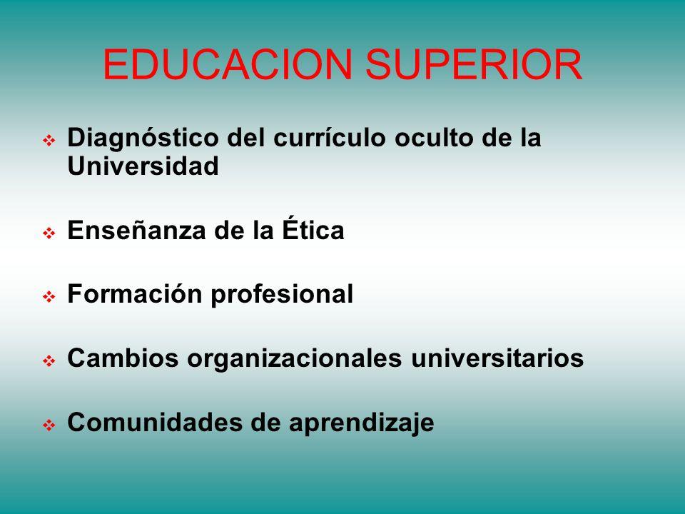 EDUCACION SUPERIOR Diagnóstico del currículo oculto de la Universidad