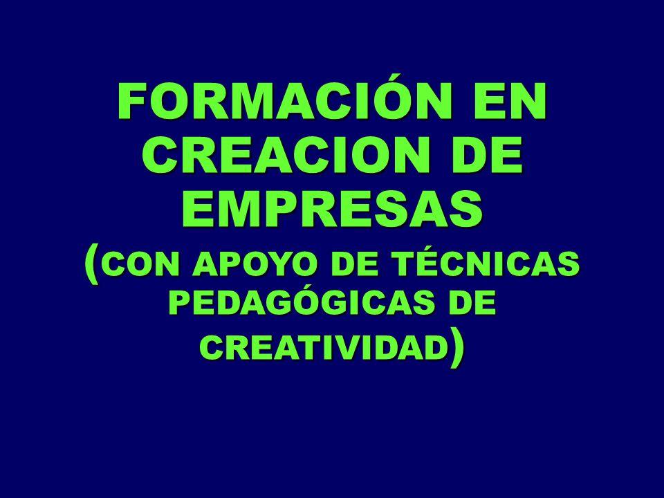 FORMACIÓN EN CREACION DE EMPRESAS