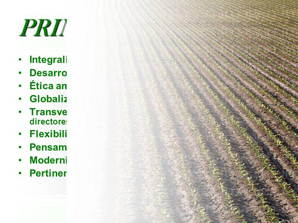 PRINCIPIOS Integralidad Desarrollo Rural