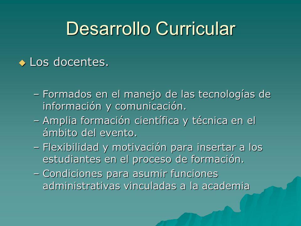 Desarrollo Curricular