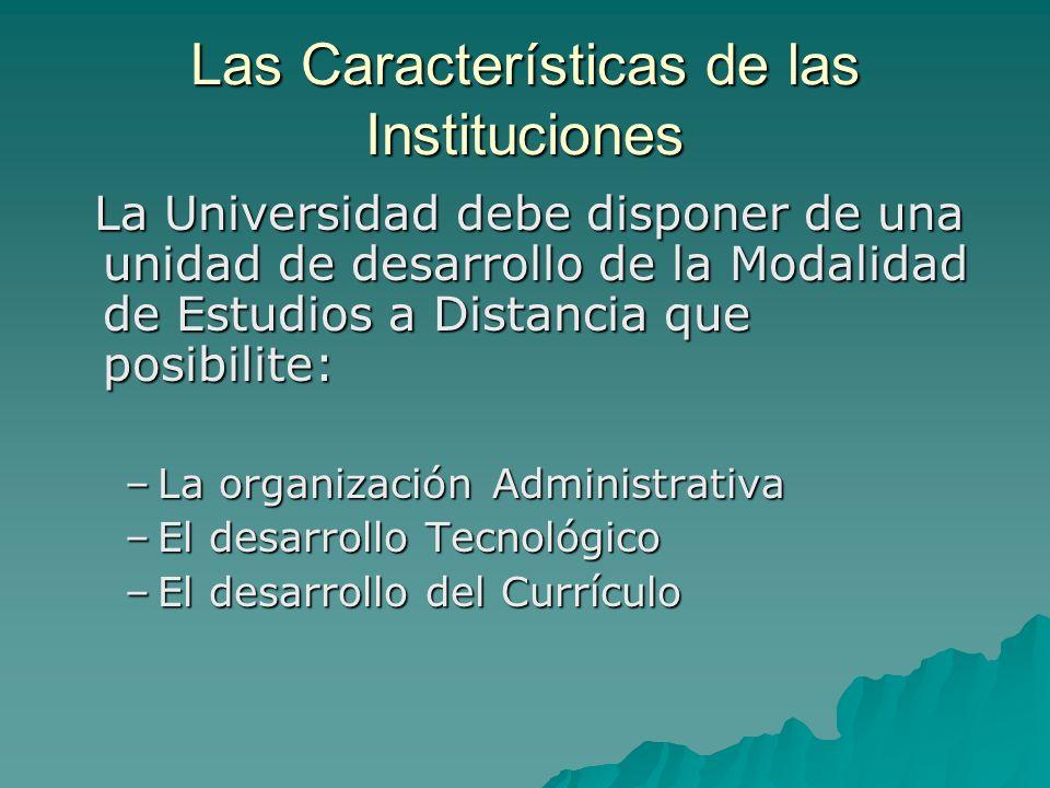 Las Características de las Instituciones