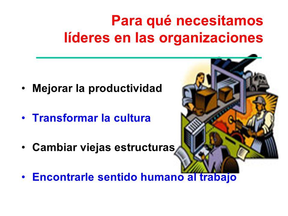 Para qué necesitamos líderes en las organizaciones