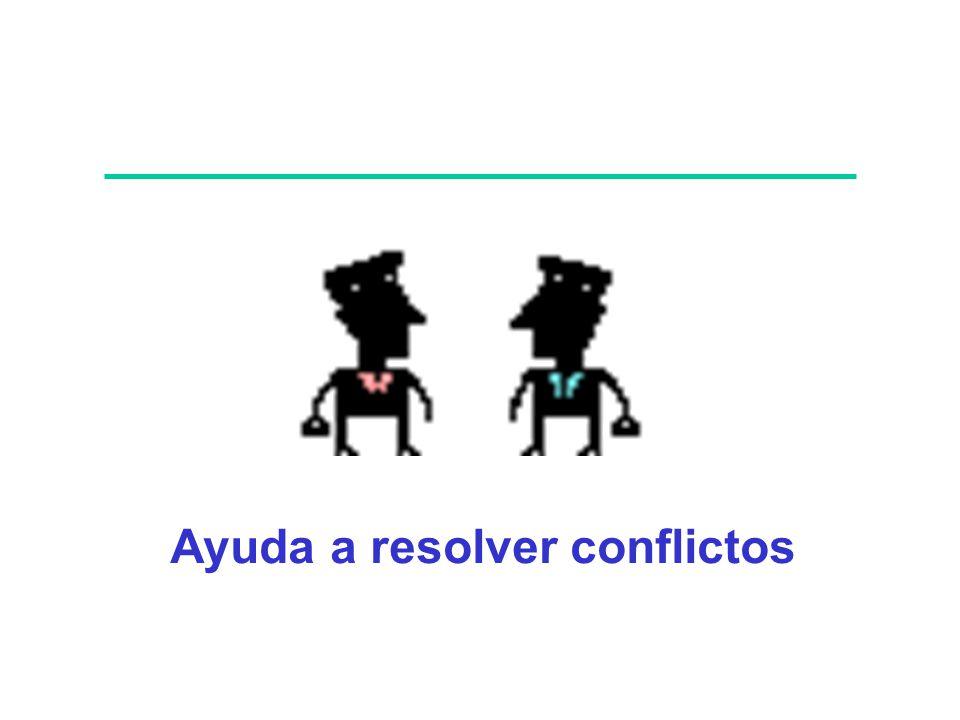 Ayuda a resolver conflictos