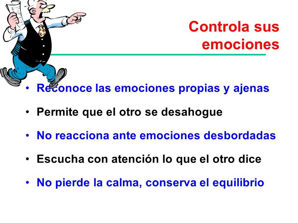 Controla sus emociones