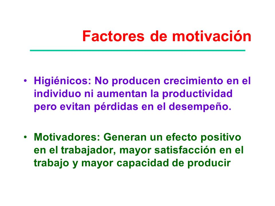 Factores de motivación