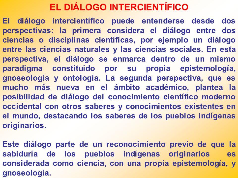 EL DIÁLOGO INTERCIENTÍFICO