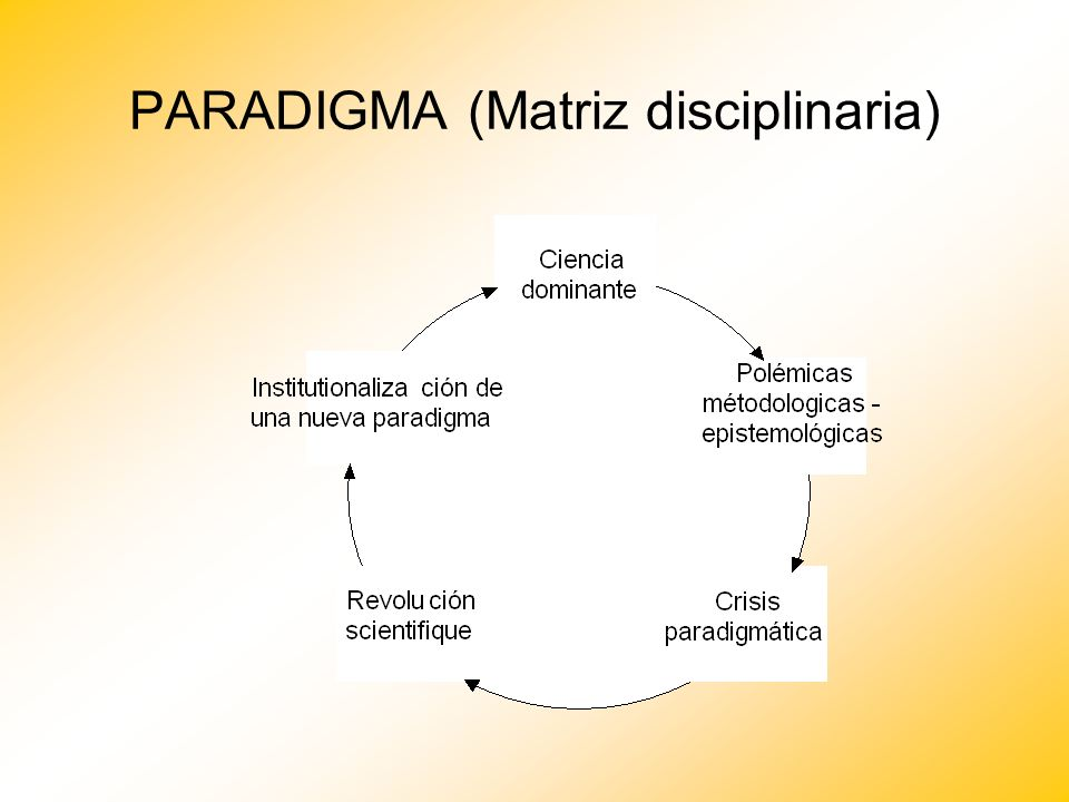 PARADIGMA (Matriz disciplinaria)
