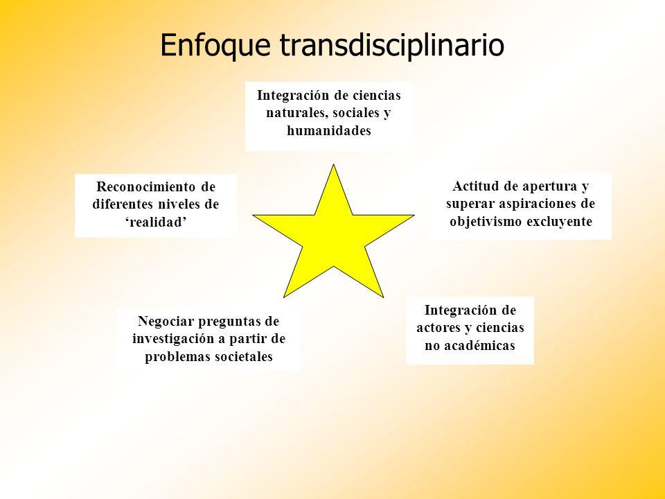 Enfoque transdisciplinario