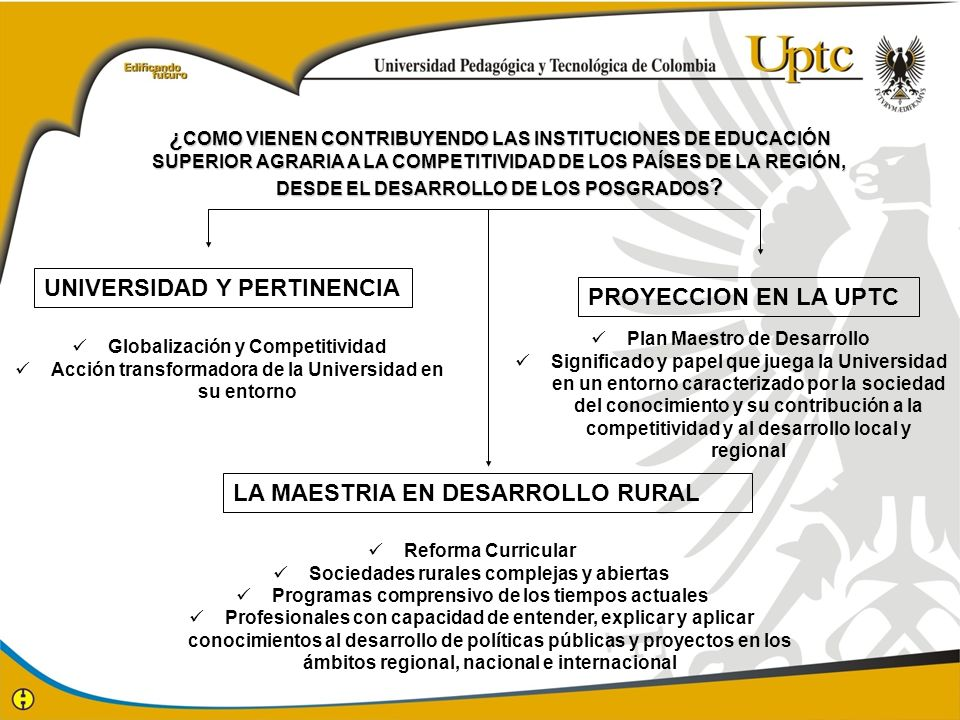 UNIVERSIDAD Y PERTINENCIA PROYECCION EN LA UPTC