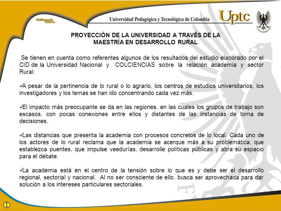 PROYECCIÓN DE LA UNIVERSIDAD A TRAVÉS DE LA
