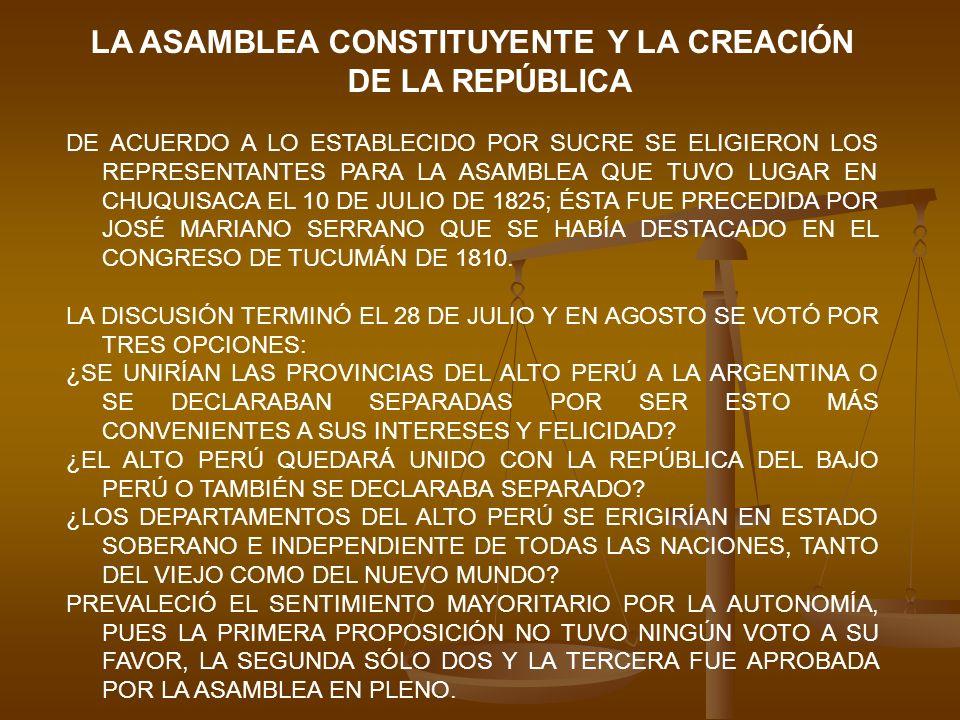 LA ASAMBLEA CONSTITUYENTE Y LA CREACIÓN DE LA REPÚBLICA