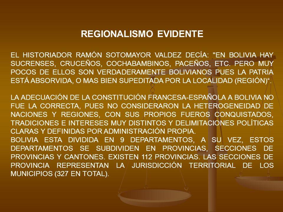 REGIONALISMO EVIDENTE