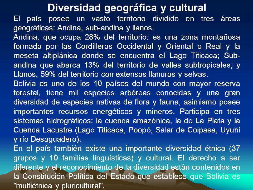 Diversidad geográfica y cultural