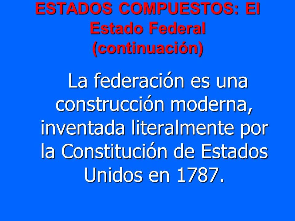 ESTADOS COMPUESTOS: El Estado Federal (continuación)