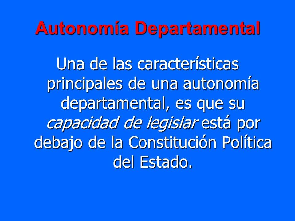 Autonomía Departamental