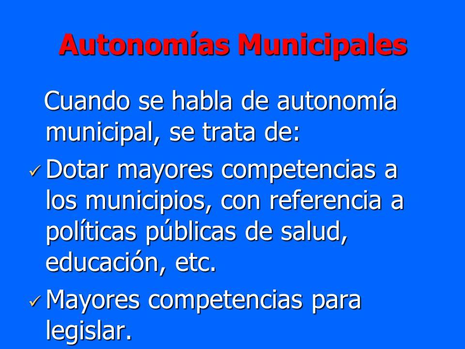 Autonomías Municipales