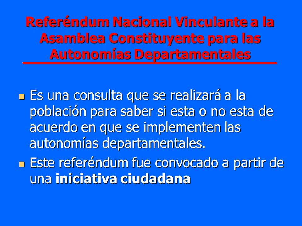 Referéndum Nacional Vinculante a la Asamblea Constituyente para las Autonomías Departamentales