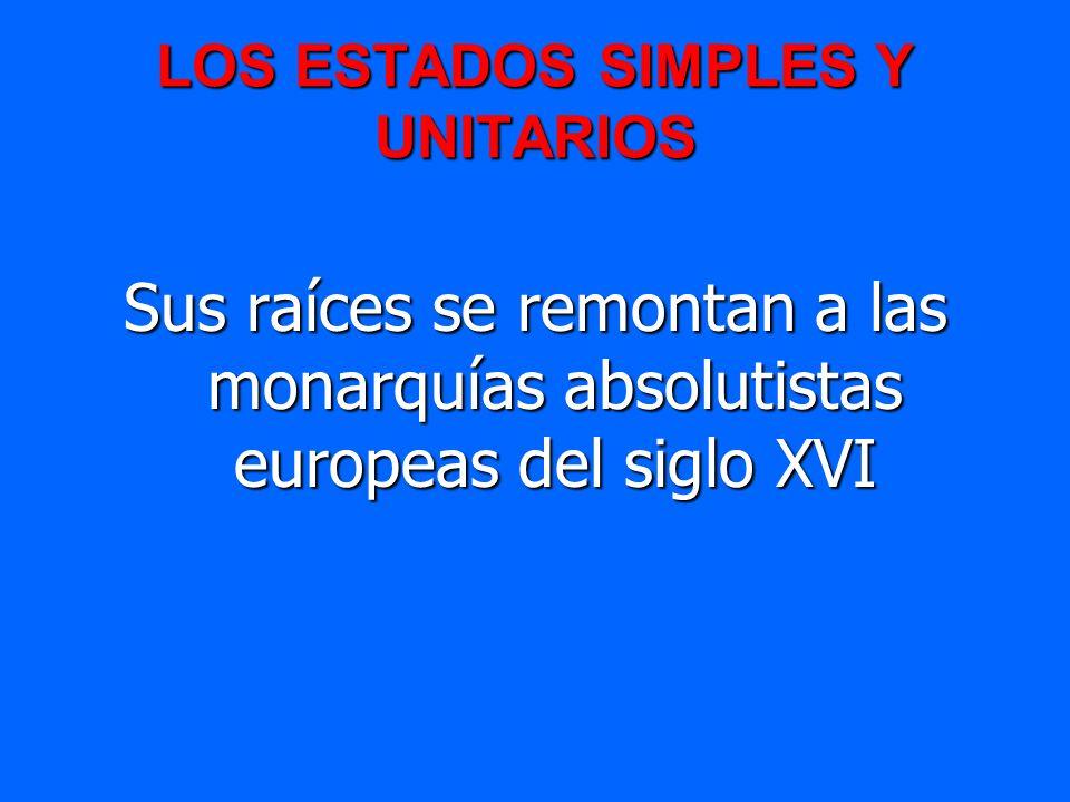 LOS ESTADOS SIMPLES Y UNITARIOS