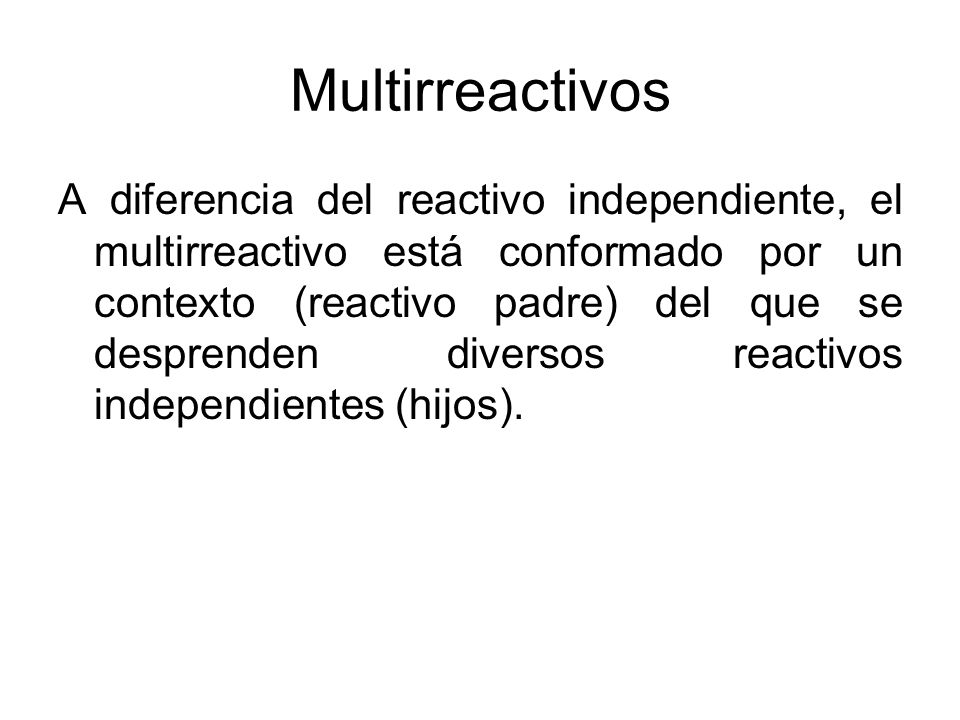 Multirreactivos