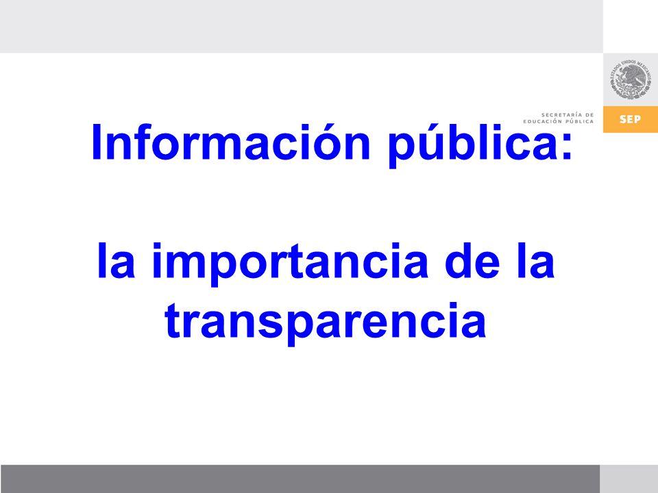 Información pública: la importancia de la transparencia