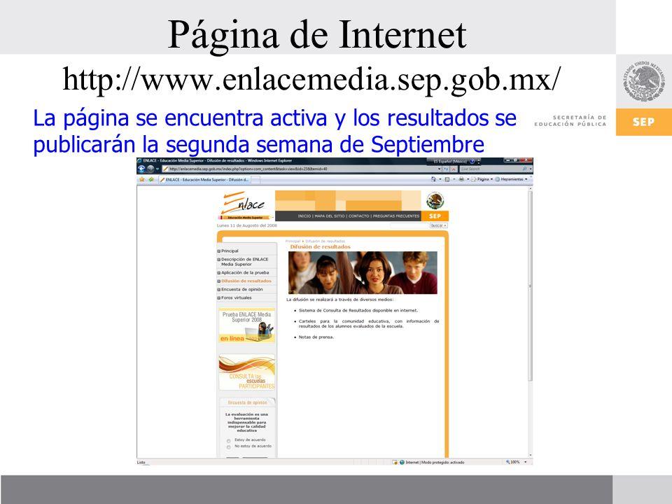 Página de Internet http://www.enlacemedia.sep.gob.mx/