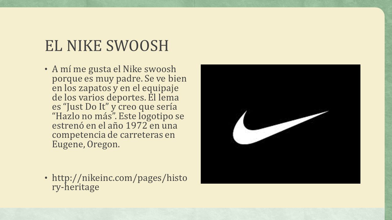 EL NIKE SWOOSH