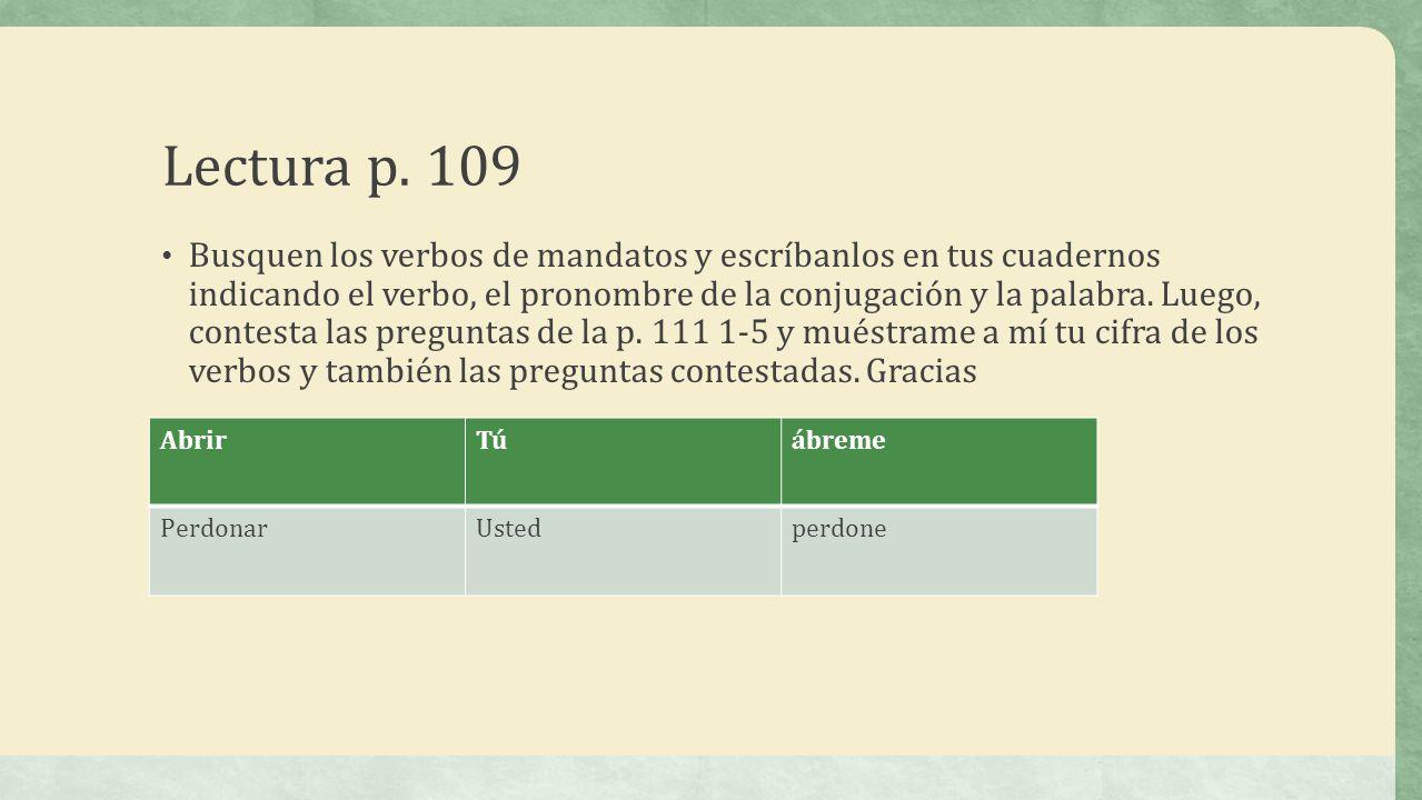 Lectura p. 109