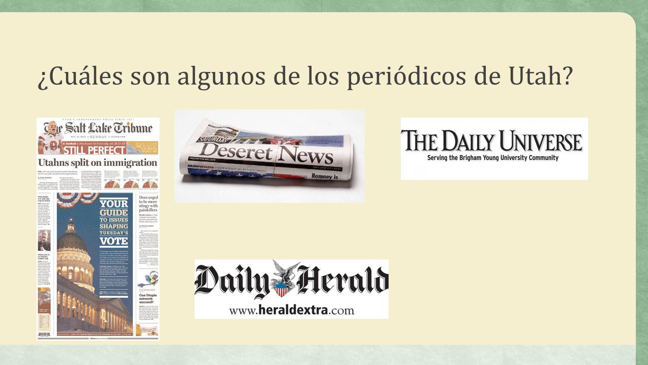 ¿Cuáles son algunos de los periódicos de Utah