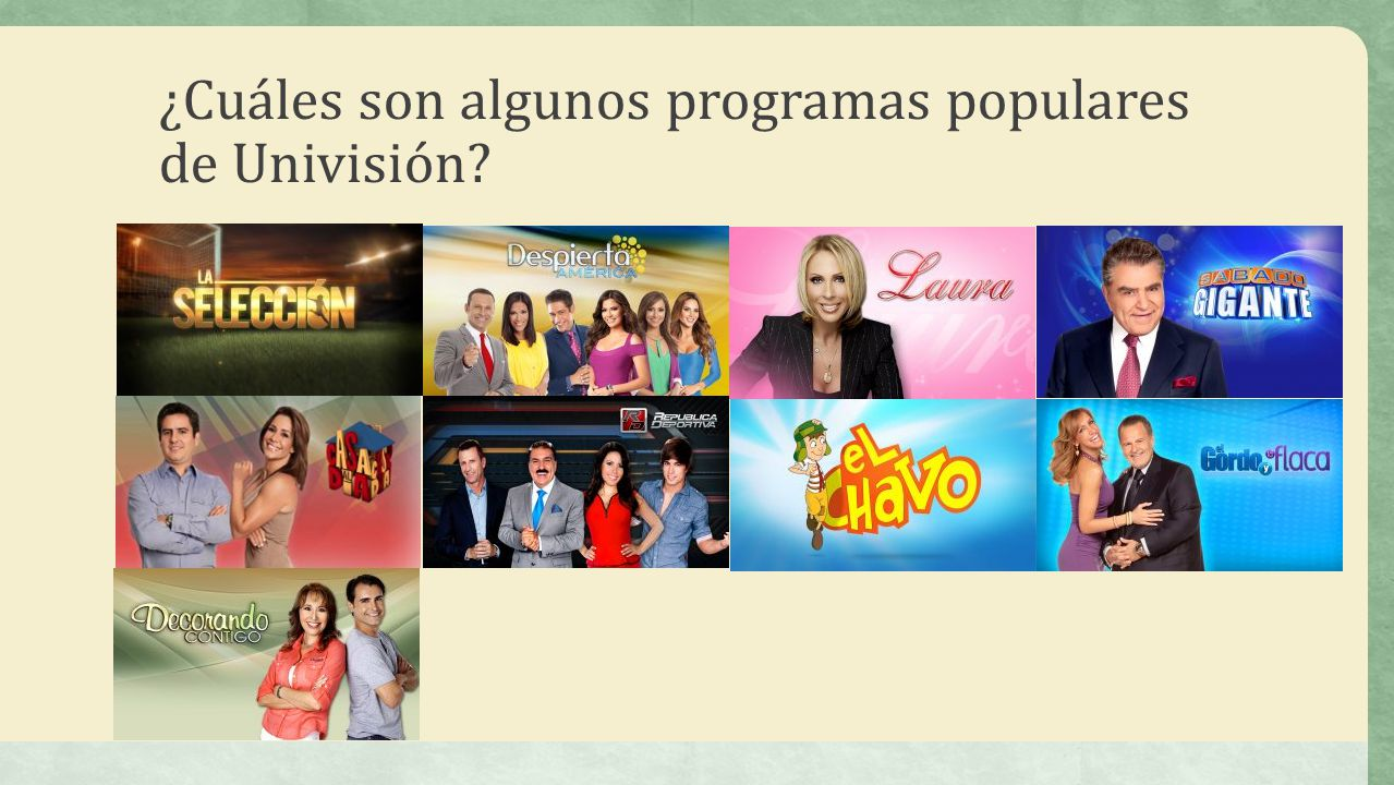 ¿Cuáles son algunos programas populares de Univisión