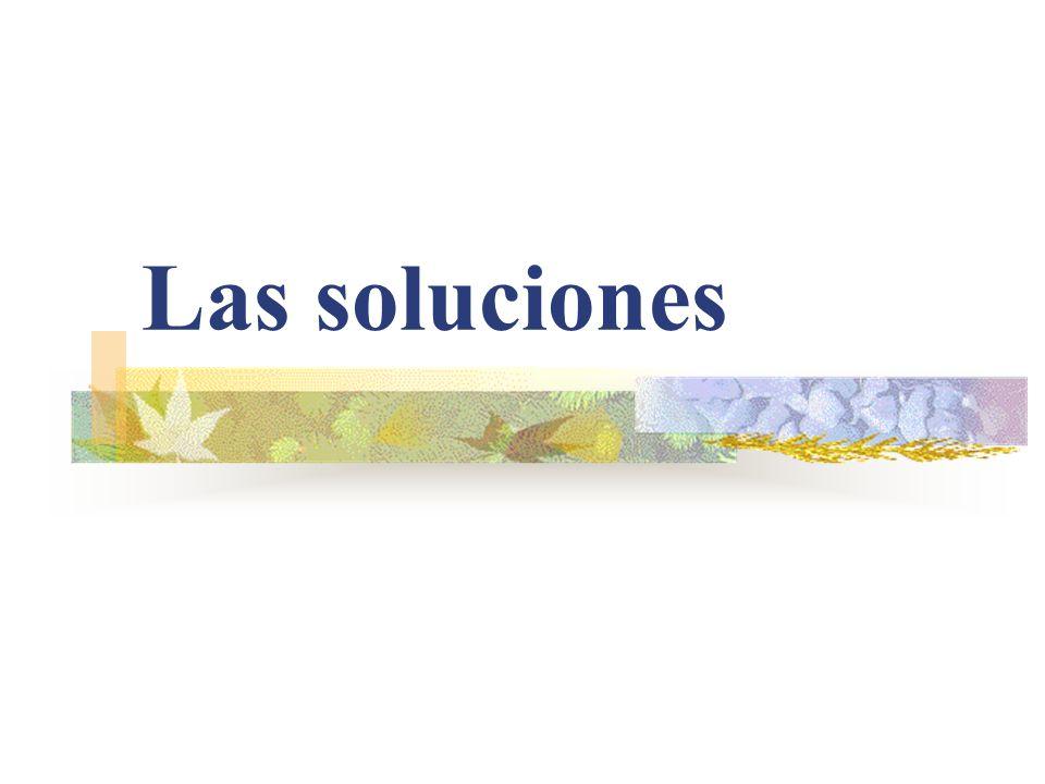 Las soluciones
