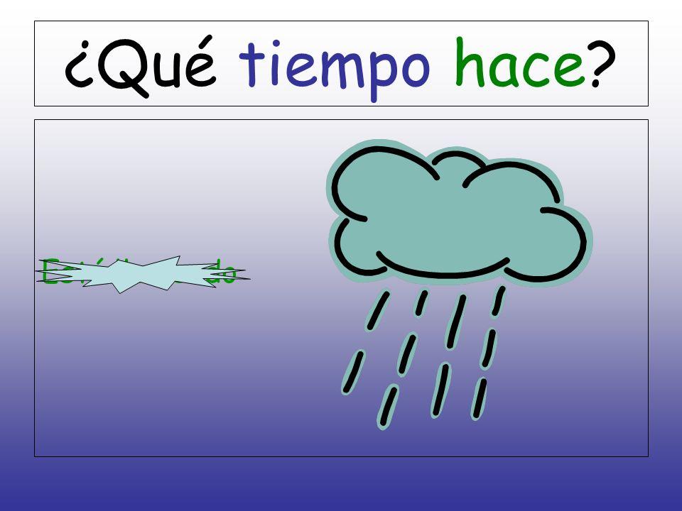 ¿Qué tiempo hace Está lloviendo