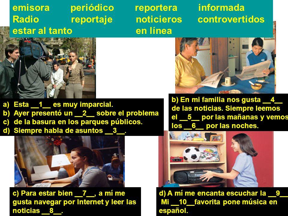 emisora periódico reportera informada