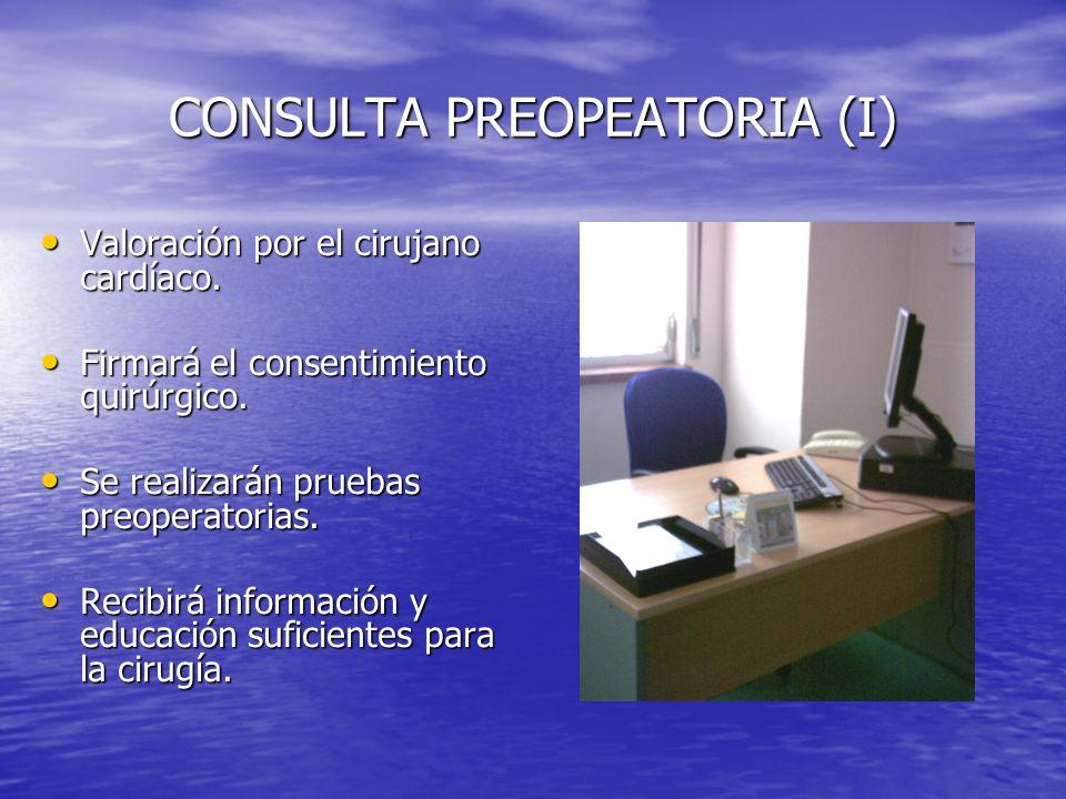 CONSULTA PREOPEATORIA (I)