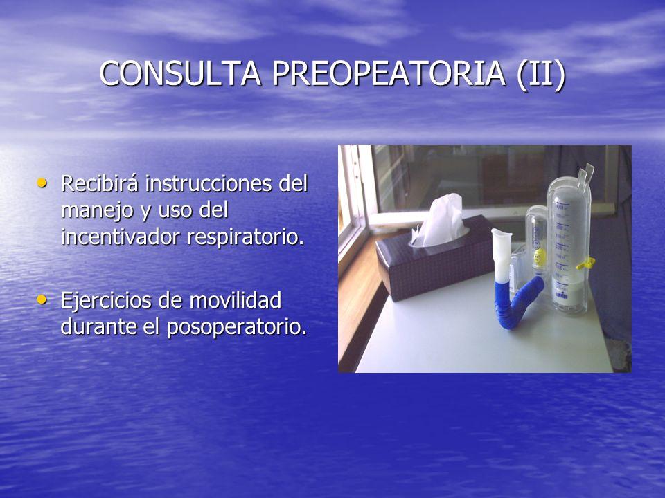 CONSULTA PREOPEATORIA (II)