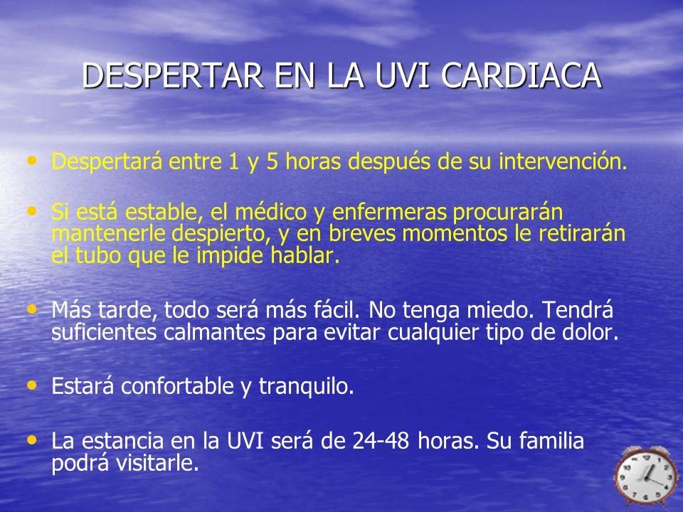 DESPERTAR EN LA UVI CARDIACA