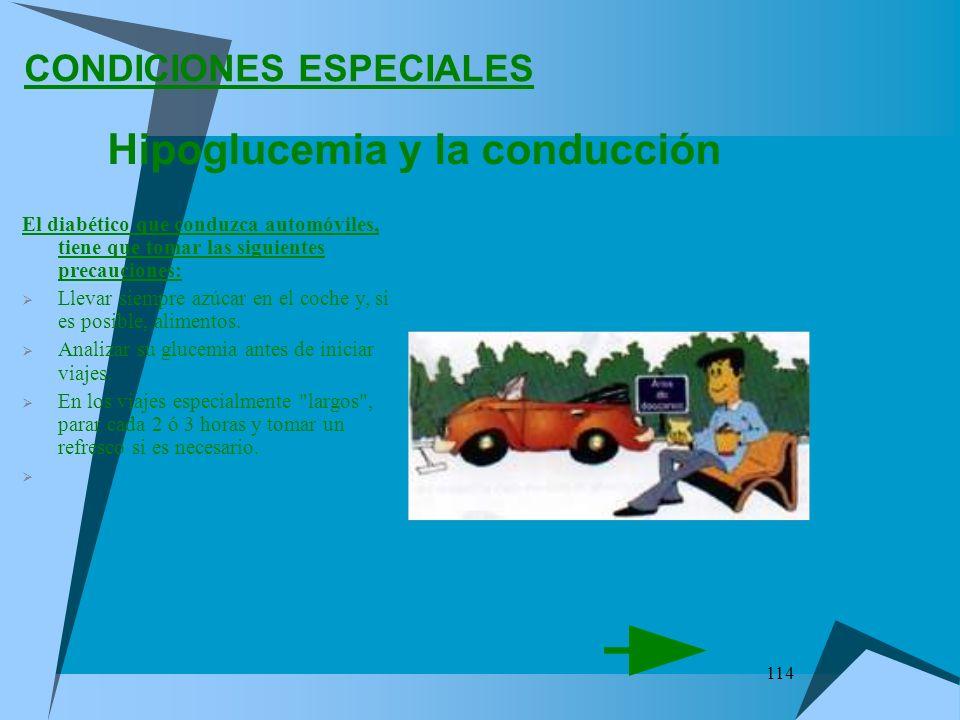 Hipoglucemia y la conducción