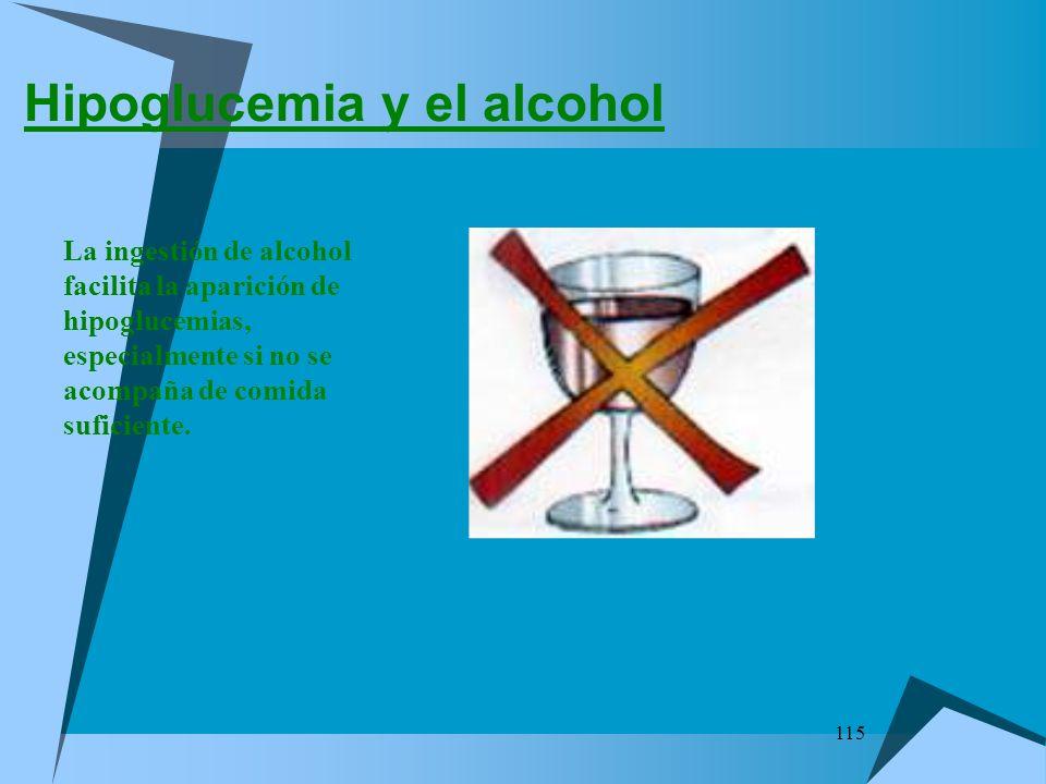 Hipoglucemia y el alcohol