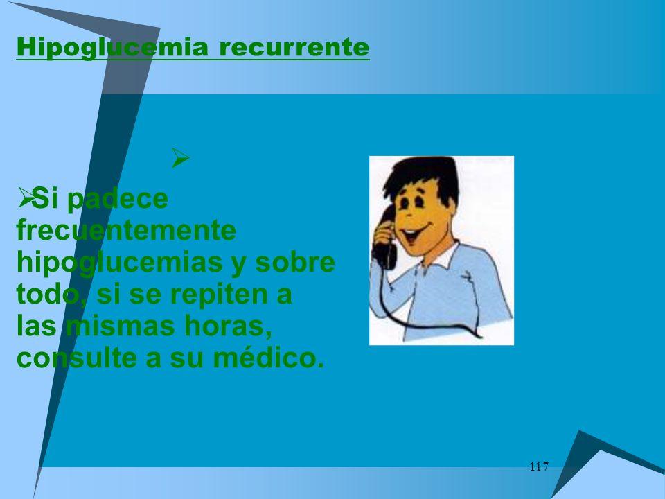 Hipoglucemia recurrente