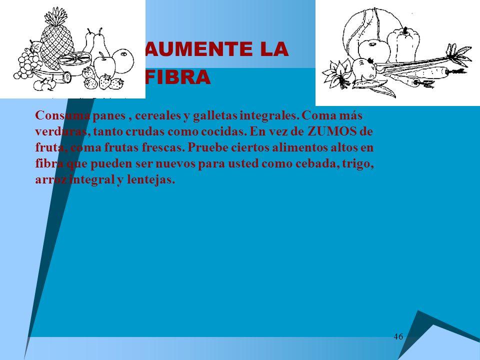 AUMENTE LA FIBRA
