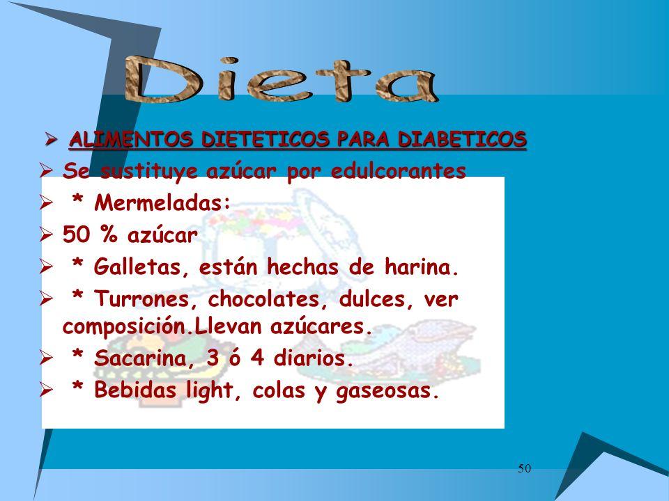 ALIMENTOS DIETETICOS PARA DIABETICOS