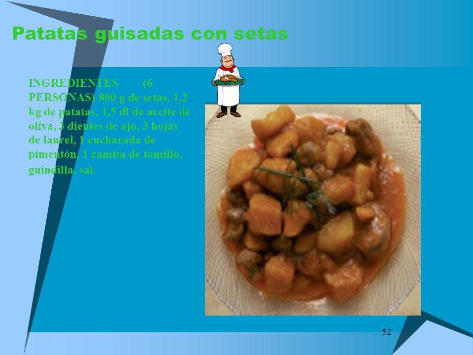 Patatas guisadas con setas