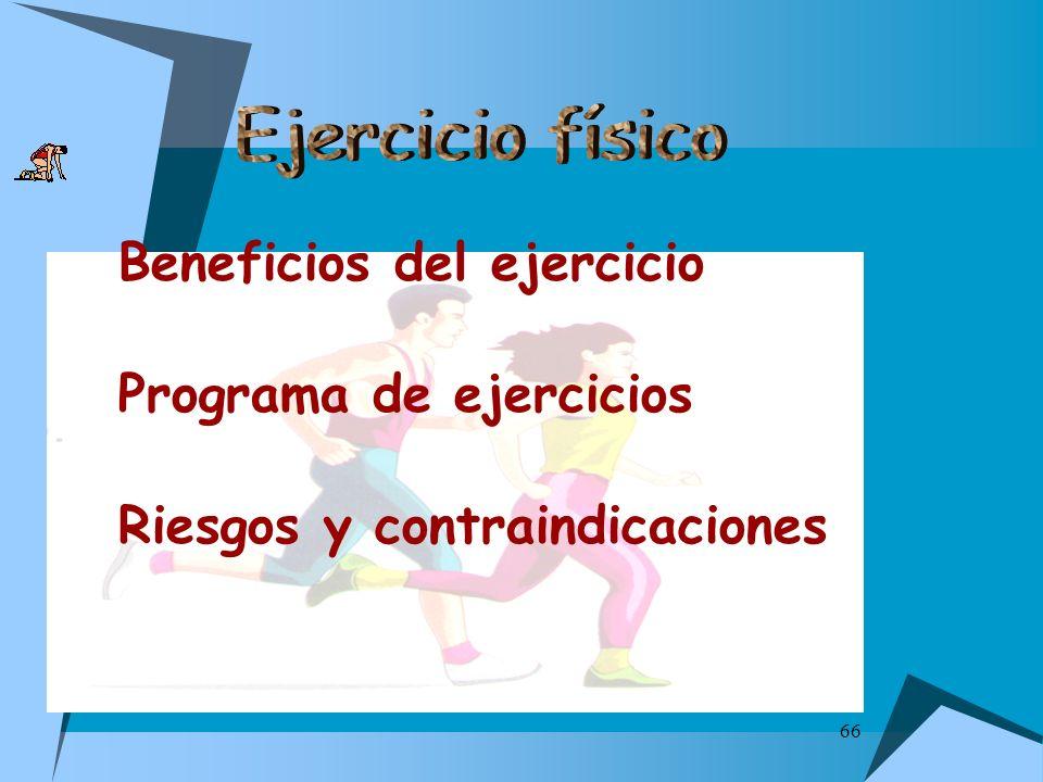 Beneficios del ejercicio Programa de ejercicios