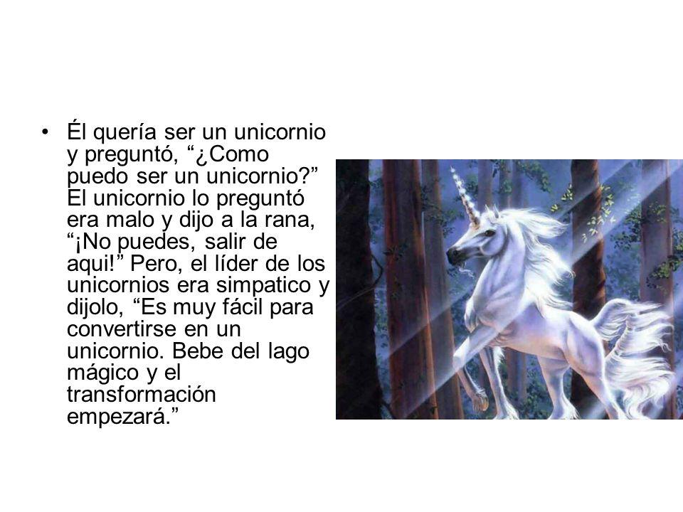 Él quería ser un unicornio y preguntó, ¿Como puedo ser un unicornio