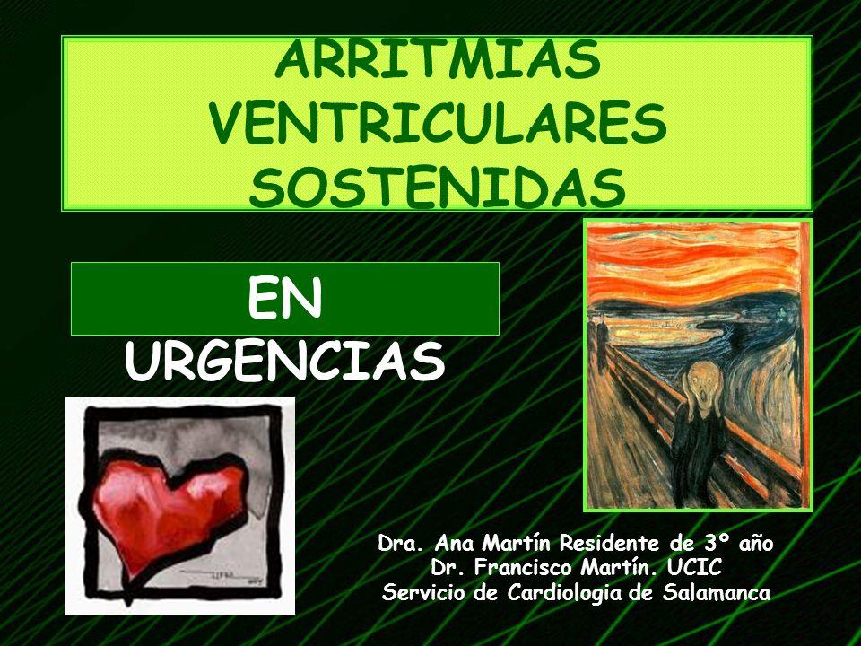 ARRITMIAS VENTRICULARES SOSTENIDAS