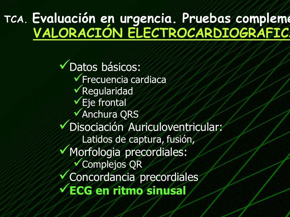 VALORACIÓN ELECTROCARDIOGRAFICA