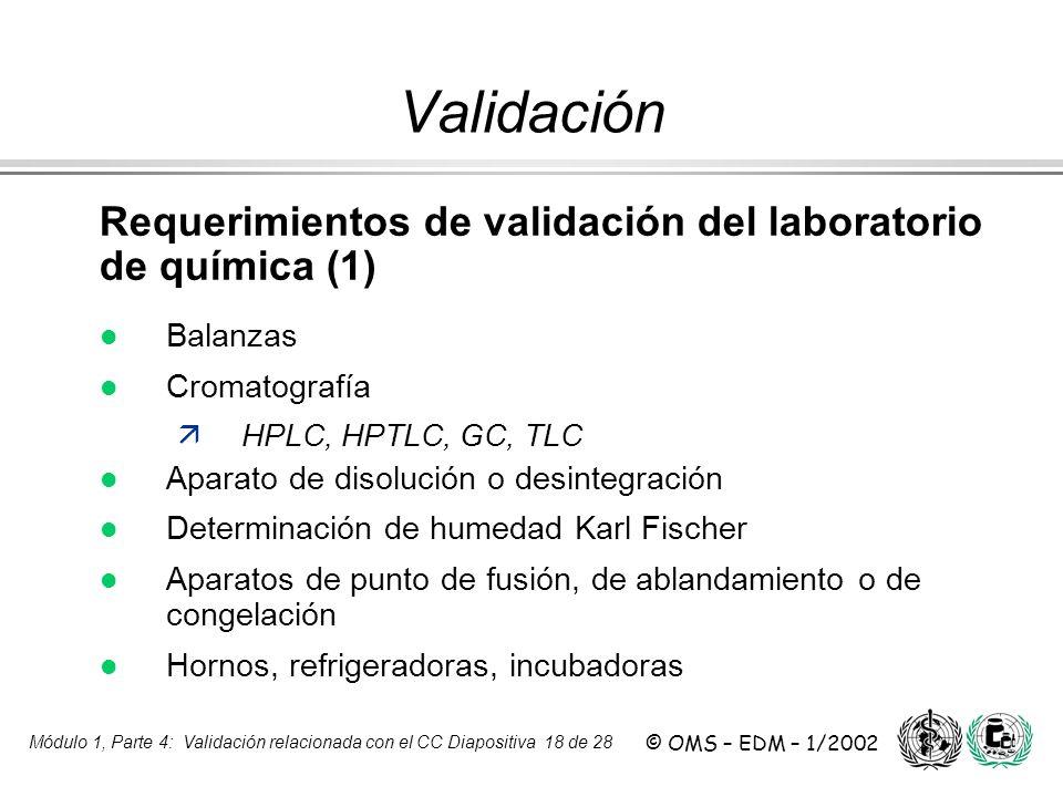 Validación Requerimientos de validación del laboratorio de química (1)