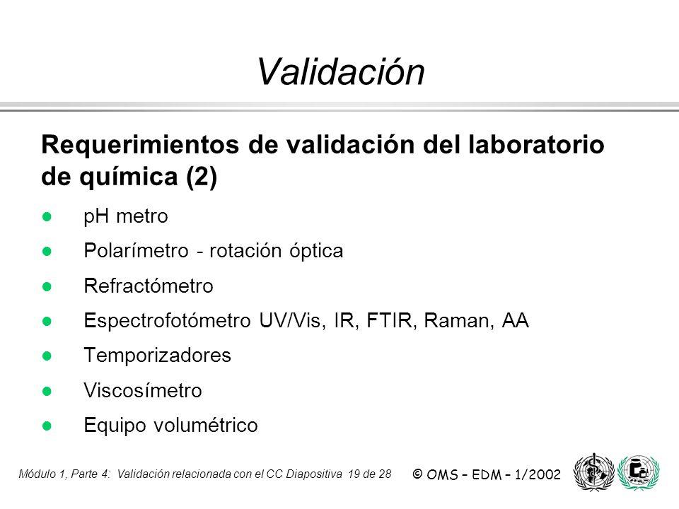 Validación Requerimientos de validación del laboratorio de química (2)