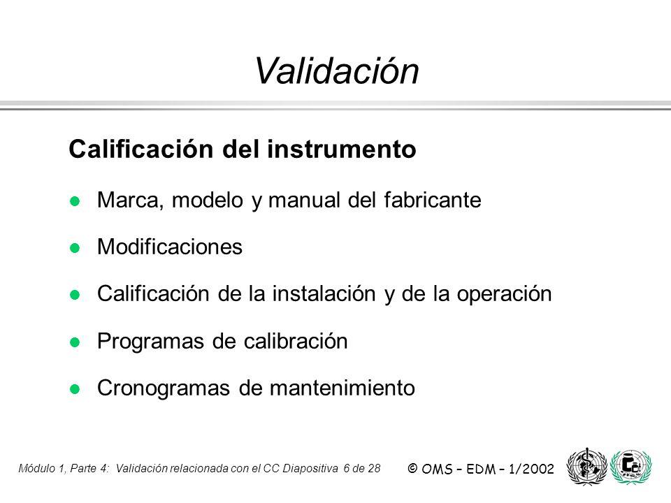 Validación Calificación del instrumento
