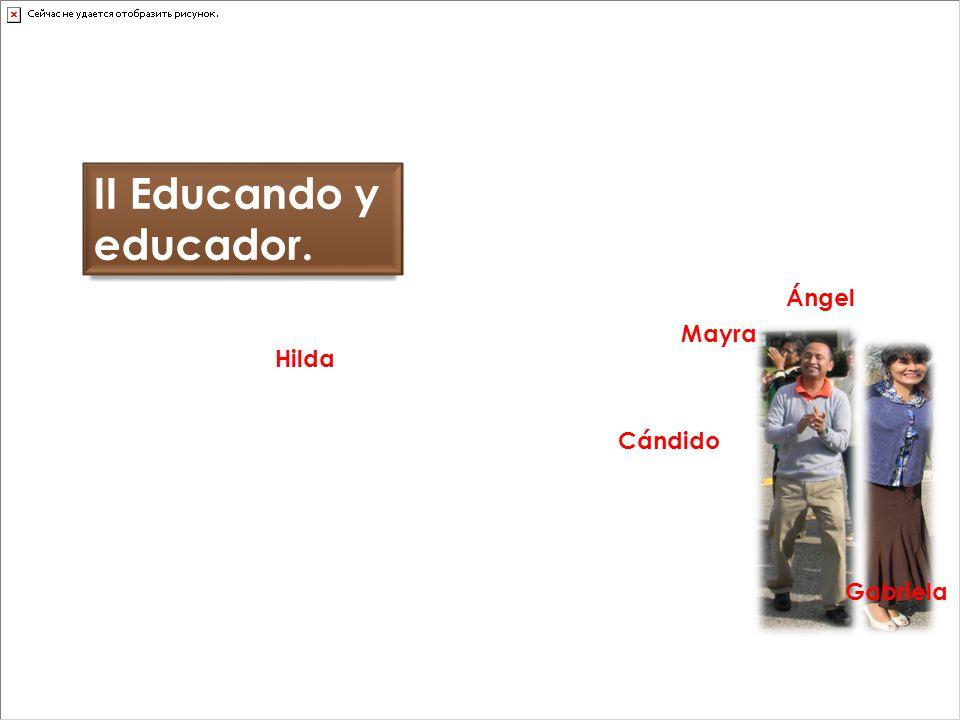 II Educando y educador. Ángel Mayra Hilda Cándido Gabriela