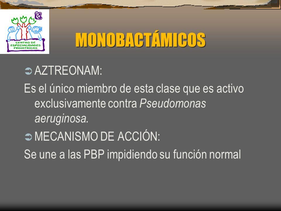 MONOBACTÁMICOS AZTREONAM: